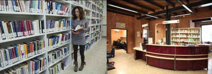 Biblioteca due sedi