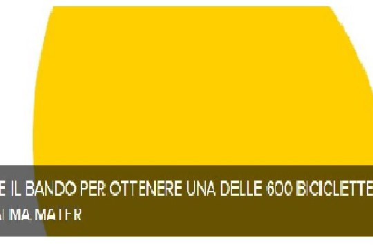 Bando di concorso per la concessione in comodato d'uso gratuito a studenti dell'Ateneo di n. 600 Almabike – a.a. 2020/2021